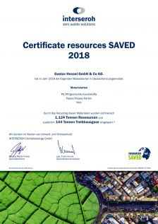 Certificate resources SAVED 2018